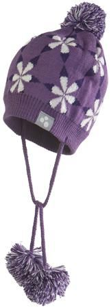Huppa Huppa, Шапка вязаная Eli на завязках (фиолетовая)  — 1050р.