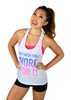 Work For It Edgy Tank in White #blogilates