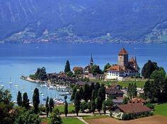 Zwitserland. meer Thun