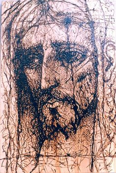 Cristo boceto (servilleta)