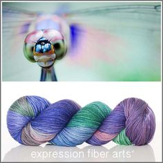 Expression Fiber Arts, Inc. - DAUNTLESS DRAGONFLY SUPERWASH DEWY DK YARN - DAUNTLESS DRAGONFLY - marvelous mauve, jade green, purple and dabbles of new tones where these 3 mingle, $23.00 (http://www.expressionfiberarts.com/products/dauntless-dragonfly-superwash-dewy-dk.html)