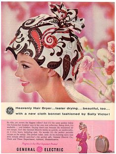 Heavenly hair dryer bonnet. Yes, I had one of these growing up. p.s. before blow dryers. lol