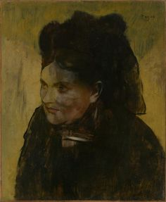Edgar Degas (French, 1834-1917), Portrait of a Woman [Portrait de femme], c. 1876-1880. Oil on canvas, 46.3 x 38.2 cm.