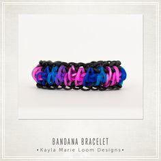 Rainbow Loom Bandana Bracelet by KaylaMarieLoomDesign on Etsy