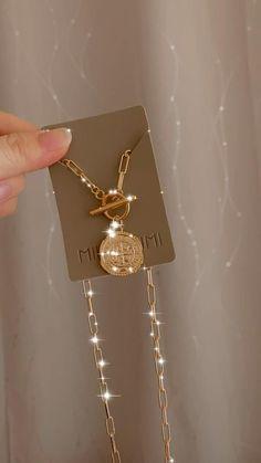 18K Gold Filled Coin Medallion Necklace