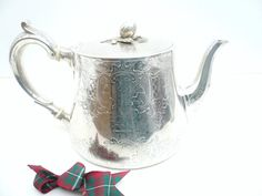 Antique Silver Teapot English Sterling Solid by DartSilverLtd, £1100.00