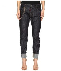 DSQUARED2 Skin Hibird Pants Five-Pockets (Blue) Women's Casual Pants