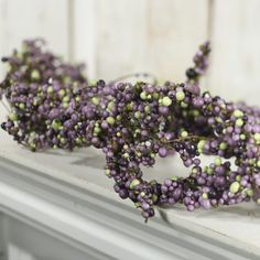Purple and Green Artificial Berry Cluster Garland - Seconds