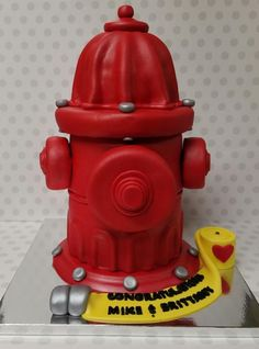 Fire Hydrant Cake - Cake by Pastry Bag Cake Co