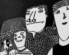 Linocut Relief Printmaking Family in Landscape by StageFortPress