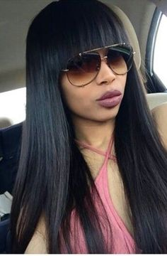 Sew in with bangs you can pull it up or wear it down this is brazilian hair straight weavevirgin human hair pmusecretfo Gallery