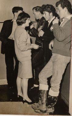 1950; British Teddy Boys And Girls