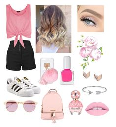 """""""Pretty in Pink🎀💖😍"""" by belatav on Polyvore featuring LE3NO, adidas Originals, New Look, Ashlyn'd, tenoverten, Sheriff&Cherry, MICHAEL Michael Kors, Marc Jacobs, FOSSIL and Bling Jewelry"""