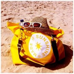 Lindberg Design Group: MADE IN SUNSHINE...> Beach bag. https://www.facebook.com/pages/MADE-IN-SUNSHINE/212816968740137