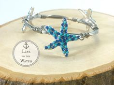 Bangle with Blue Starfish Bourbon and Bowties by LifeOnTheWater