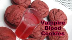 Vampire Blood Cookies -- So Yummy and Three Ingredients!