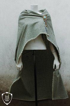 Green Wool Viking Cape