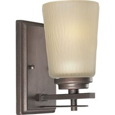 Best Bathroom Light Fixtures | Progress Lighting P309288 1Light Bath Bracket with Etched Light Topaz Glass Heirloom -- Visit the image link more details. Note:It is Affiliate Link to Amazon.
