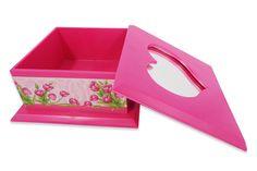 Caixinha com espelho, feito de de plastico e forrado com detalhes bem bonitos  Cor: Pinck (Aberto)  Mais produtos no nosso site: www.s2store.com.br