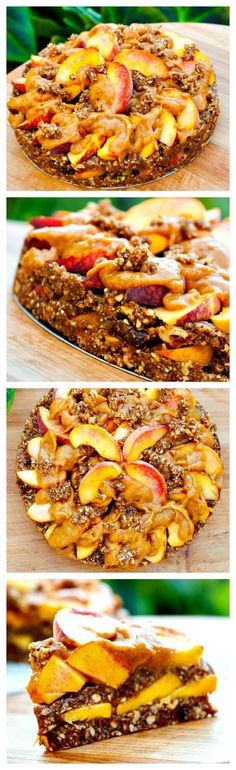 The Fully Raw Peach Cobbler - Are you ready to try a Peach Cobbler that will blow your mind? #raw #glutenfree #vegan