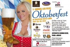 Tick! Tock! Time Flies... Another Expiring Experience from LastMinute Lauderdale: Three day long Las Olas Oktoberfest this weekend!