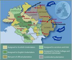 Settlement map of Ulster - BBC: Ulster Scots history