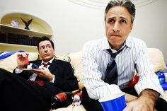 Funny men. Colbert Report and Daily Show <3