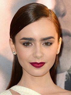 lily collins ombre lip