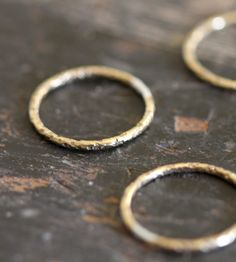 Simple 14K Gold Textured Ring