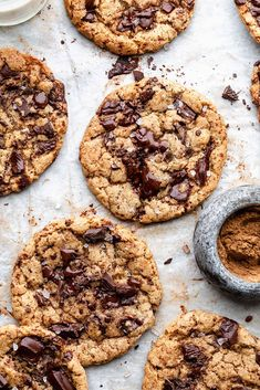 Vegan Spiced Chocolate Chip Cookies #cookies #vegan #autumn #fall #spiced #recipe #chocolate #chocolatechip