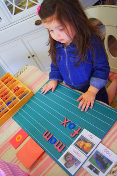 """Making Montessori Ours"": Montessori Pink Series Reading Work"