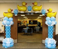 Let us help make your Baby Shower Adorable with our Baby Balloon Decor! Baby Shower Game Gifts, Baby Shower Duck, Rubber Ducky Baby Shower, Shower Games, Shower Party, Baby Shower Parties, Baby Shower Themes, Shower Ideas, Baby Ballon