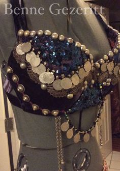 Tribal Sundries a fusion bellydance bra by BenneGezerittDesigns
