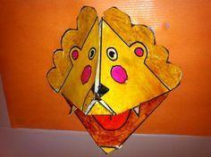 Como fazer um fantoche de mão de um leão - 6 passos