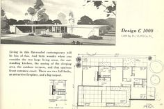 Vintage House Plans 1960s: Mid Century Beauties | Antique Alter Ego