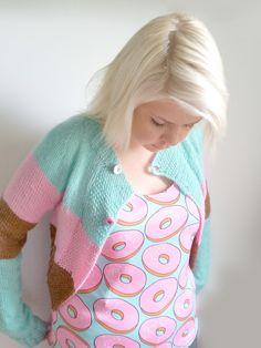 Now you can wear this delight on you and might I add, look as delicious as the treat it self! Very flexible and breathable. Donuts, Dressing, Printed, Book, Sweaters, How To Wear, Clothes, Fashion, Frost Donuts
