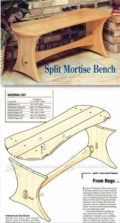 Split Mortise Bench Plans - Outdoor Furniture Plans & Projects  | WoodArchivist.com