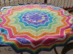 This pattern includes a video to give the crocheter an insight into the process of working the new points.