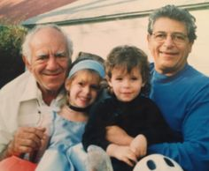 My grandkids, Darin and Marissa, trick or treating with me and their Grandfather Joe.
