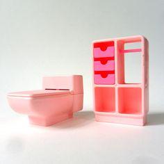 Barbie Dream Furniture Bath Chest and Working Commode 70s