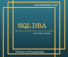 Hi, We are providing MYSQL DBA, MSSQL DBA, ORACLE DBA Online and class room training. Training will be 100% Real time. For more details call to 9949337995 www.dbacentre.com DBA CENTRE For course content click on below links: http://www.dbacentre.com/online-mssql-dba-training/ http://www.dbacentre.com/online-oracle-dba-training/ http://www.dbacentre.com/online-mysql-dba-training/ For FREE DEMO Contact us @ 9949337995.