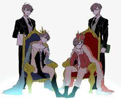 Osomatsu-san- Osomatsu, Karamatsu, Choromatsu, and Ichimatsu Gato Anime, Osomatsu San Doujinshi, Howls Moving Castle, Ichimatsu, Black Panther, Me Me Me Anime, Fantasy Characters, Haikyuu, Digital Illustration