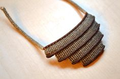 Temple Necklace/ Fiber Art/ Micromacrame/ Peruvian Jewelry/ Natural Necklace/ Geometric