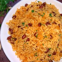 Yellow rice and Red beans is a Caribbean rice recipe. Seasoned with sazon, knors and boiled with chicken stock to add more flavor. The post Yellow Rice and Red Beans appeared first on . Spanish Red Beans Recipe, Spanish Rice And Beans, Rice With Beans, Chicken And Yellow Rice, Yellow Rice Recipes, Red Beans N Rice Recipe, Dominican Recipes, Healthy Lunches, Cooking