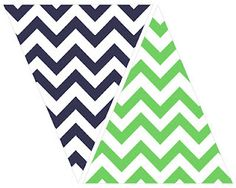 printable chevron banner