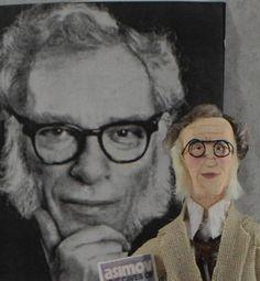 Isaac Asimov Doll Miniature Art Science Fiction Writer