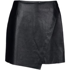 Helmut Lang Leather Skirt (4,935 MXN) ❤ liked on Polyvore featuring skirts, bottoms, saias, faldas, black, helmut lang, black leather skirt, leather skirt, zipper skirt and black skirt