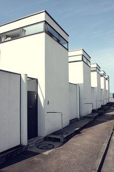 Weissenhof Row Houses, by J.J.P. Oud, Stuttgart, Germany, ca.1930s