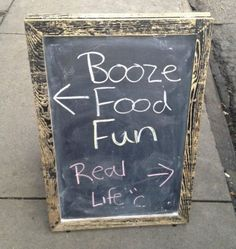 funny bar signs; not my real life
