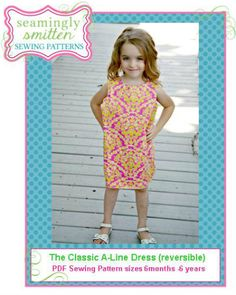 Classic A-Line Dress PDF Pattern for beginners